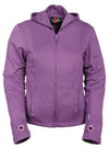 Ladies Premium Nylon Motorcycle Purple Jacket with Reflective Tribal Detail - Divine Leather USA - 7