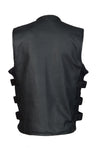 Men's SWAT Style Motorcycle Vest With Two Inside Pockets - Divine Leather USA - 2
