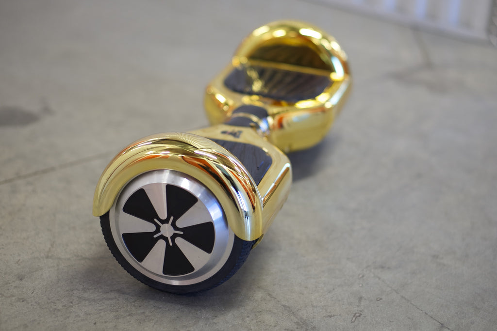 Chrome Hoverboard - 'Gold' (with bluetooth speakers) - Space Chariot