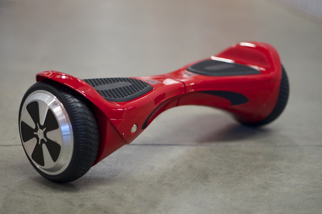 "Hoverboard w/ Bluetooth - 'Meteor Red' (10"" Wheels)  with bluetooth, Samsung Battery Inside, and Remote Control - Space Chariot"