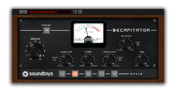 Best VST plugin for mixing Bass Decapitator by SoundToys