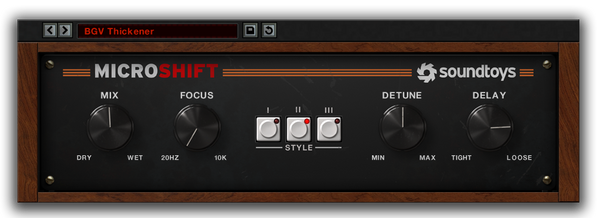 Best VST plugin for mixing Vocals MicroShift by SoundToys