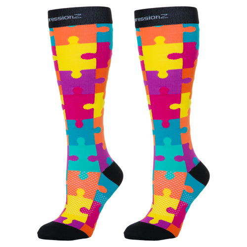 Compression Socks (Fun Patterns 20-30mmHg) - Jigsaw Puzzle