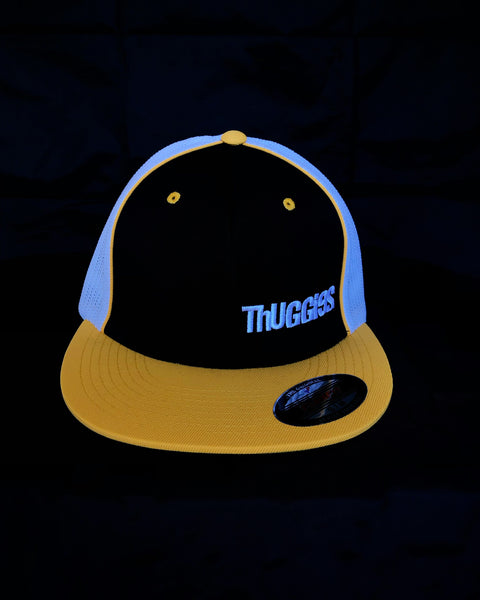 Thuggies Black & Yellow Flat Brim Trucker Hat