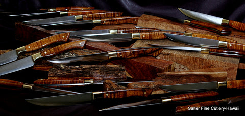 Salter Fine Cutlery handmade steak knives at famous restaurant The Grill New York