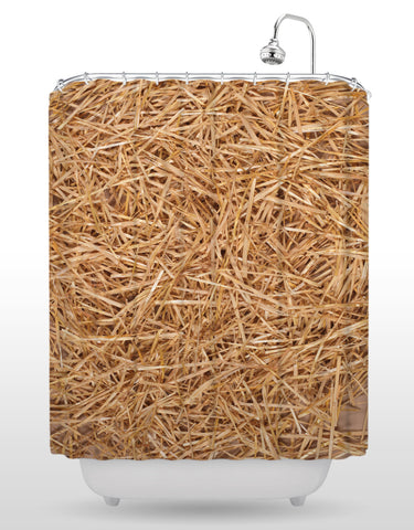 Straw Shower Curtain