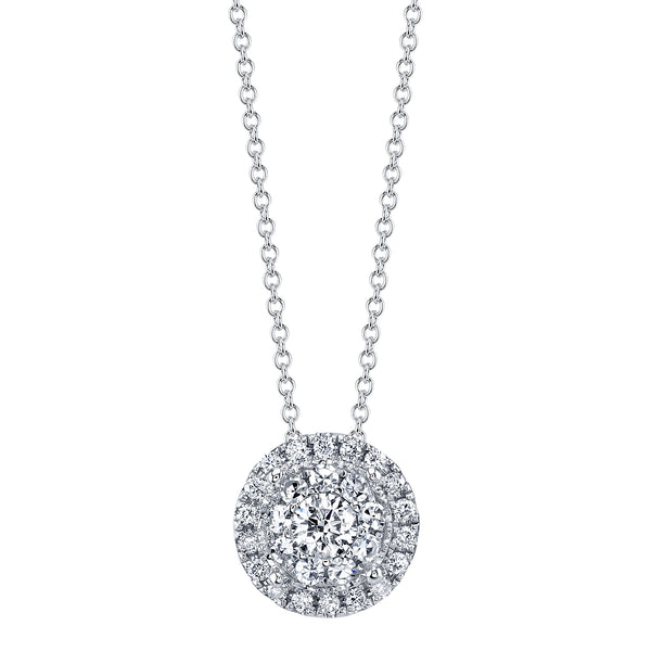Sliding Diamond Cluster Pendant