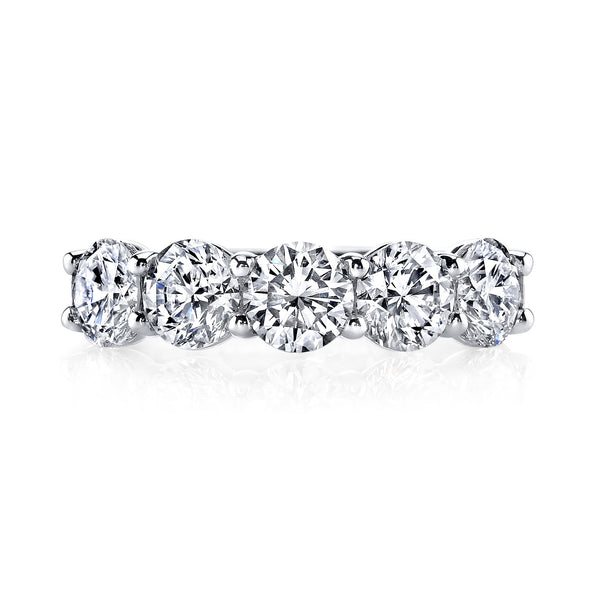 Five Stone Diamond Anniversary Ring