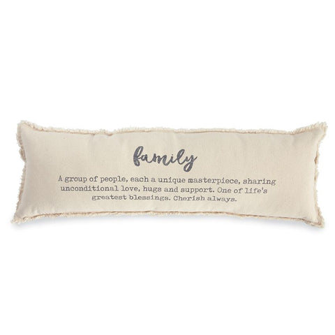 Canvas Family Pillow