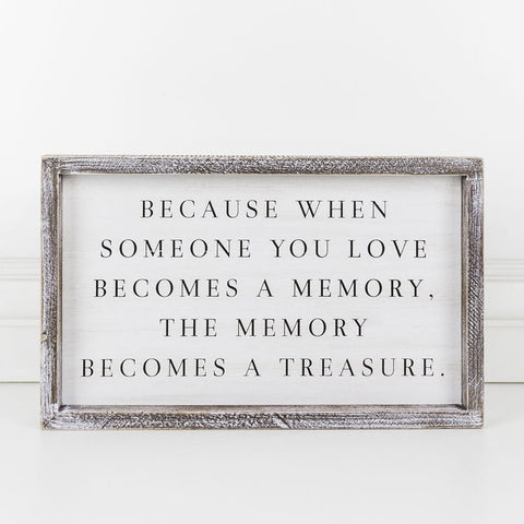 Love Memory Wood Sign