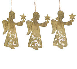 Wood Angel Silhouette Ornament
