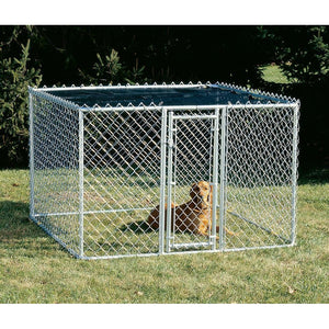 Midwest K-9 Chain Link Dog Kennel-Barriers-Midwest-K9664 - 6 L x 6 W x 4H-Pet Crates Direct