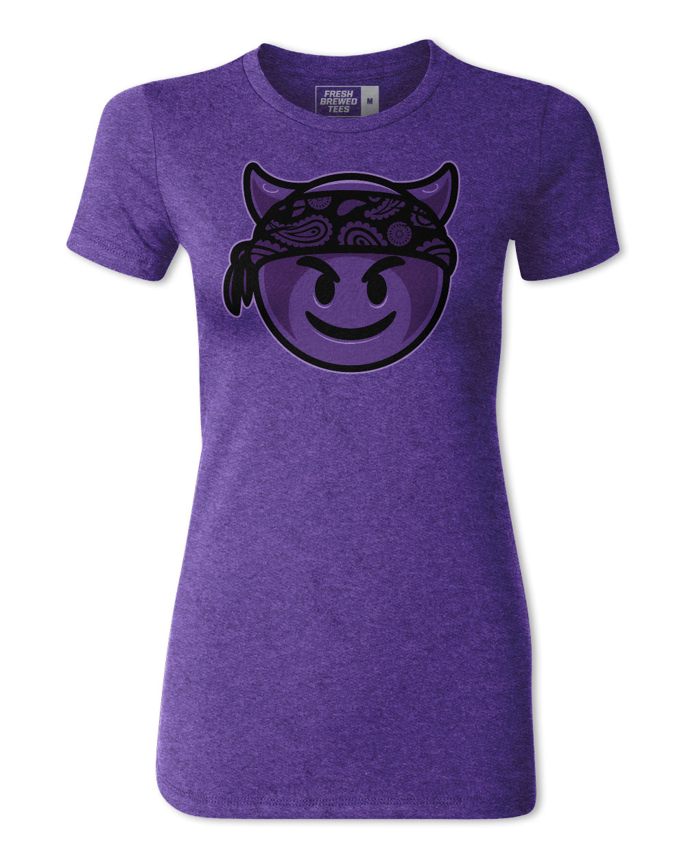 Jessica Eye Evilmoji Purple Ladies T-shirt