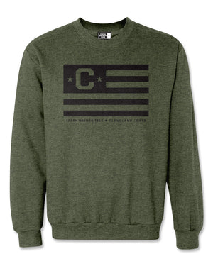 C Flag Army Heather Crewneck Sweatshirt