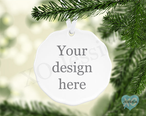 Create your Own Ornament  - Scalloped