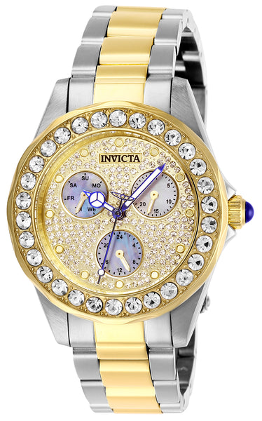 Invicta Women's 28459 Angel Quartz Chronograph Pave, Charcoal Dial Watch