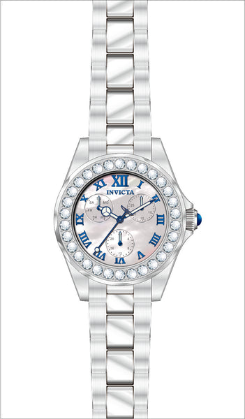 Invicta  Women's 28463 Angel Quartz 3 Hand White Dial Watch