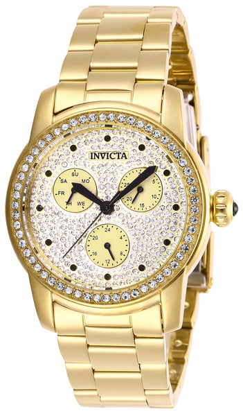 Invicta Women's 28469 Angel Quartz Chronograph Pave, Gold Dial Watch