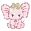 Baby Girl Elephant Applique (SA545-10)