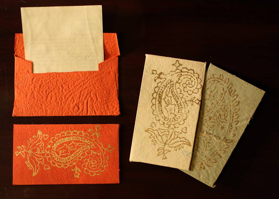 Block Printed Envelopes (Pack of 5)