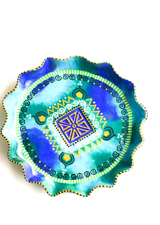 Circular Hand-painted Trinket Holder