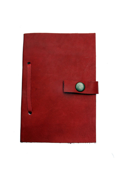 Leather Diary in Red