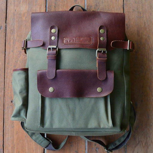 Peru - Leather/Canvas Backpack