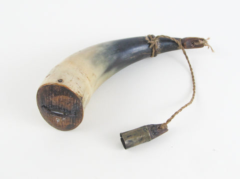 antique black powder horn