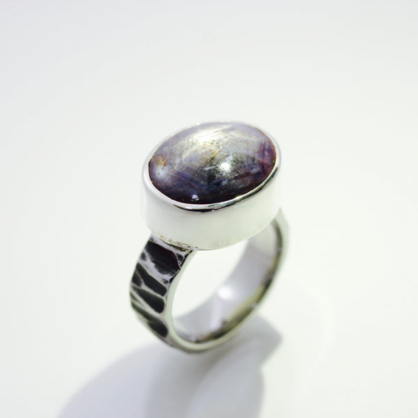 Star Ruby Ring | 7mm wide band
