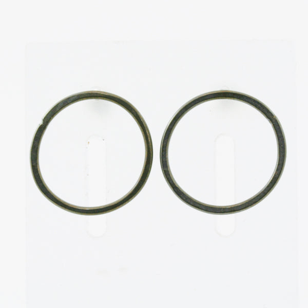 Single Steel Hoop Earrings with Post