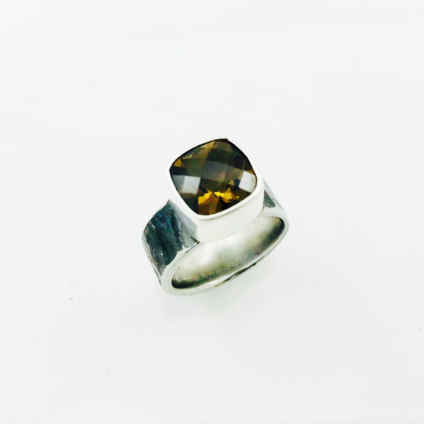 Whiskey Quartz Ring