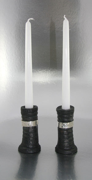 Tall Twist Belted Candleholder