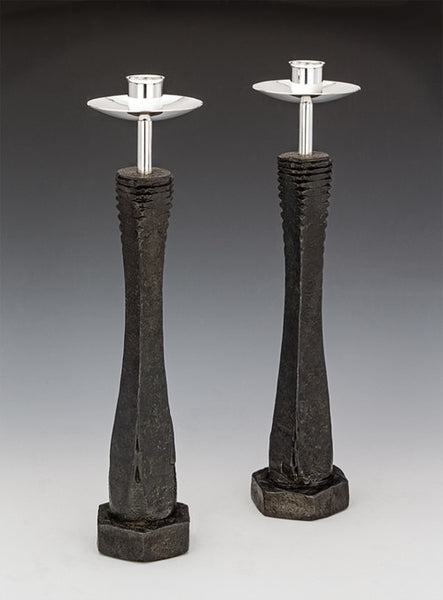 Tall Tapered Hex Candlestick