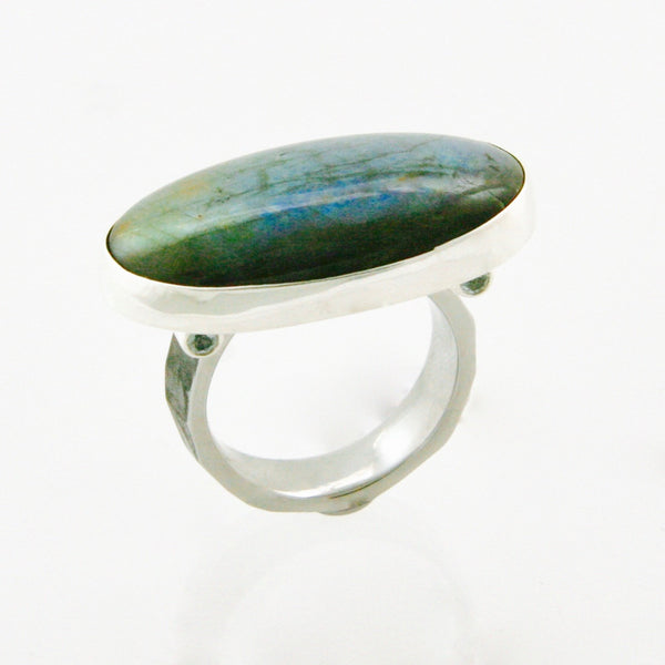Labradorite Ring with 4 Topaz stones
