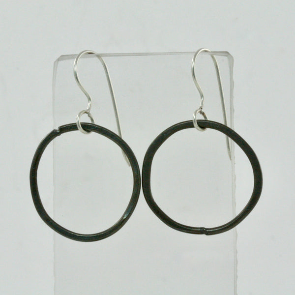 Single Steel Hoop Earrings