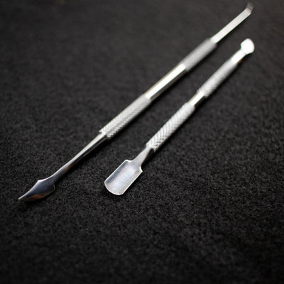 Stainless Steel Dab Tool: Knife & Flat End-Do More Dealie, LLC
