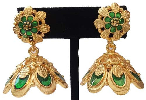 Kerala Style Palakka Earrings - EJK2608G