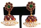 Kempu Pearl Jhumki Earrings - JMK2511