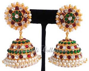 Stones Kempu Jhumki Earrings - JMK2523