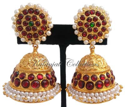 Temple Design Jhumki Earrings-JMK2524