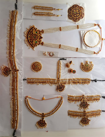 12pc Dance Jewelry Set Kuchipudi Bhartanatyam KMPSET501