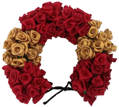 Maroon Rose Flower Veni