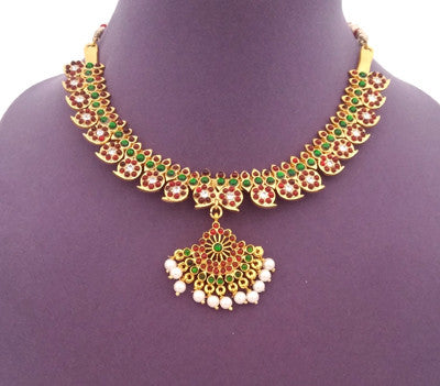 Kuchipudi Bharatanatyam Short Necklace - SN2204