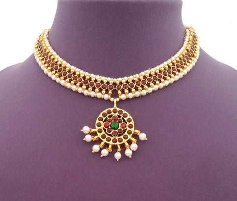 Kuchipudi Bharatanatyam Short Necklace - SN2202