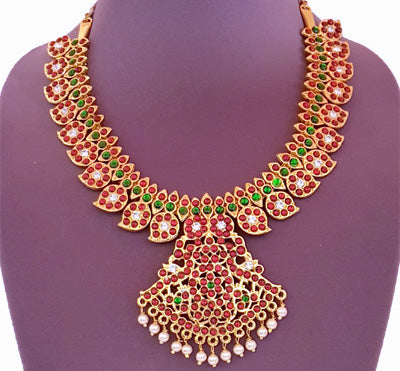 Kuchipudi Bharatanatyam Short Necklace - SN2203
