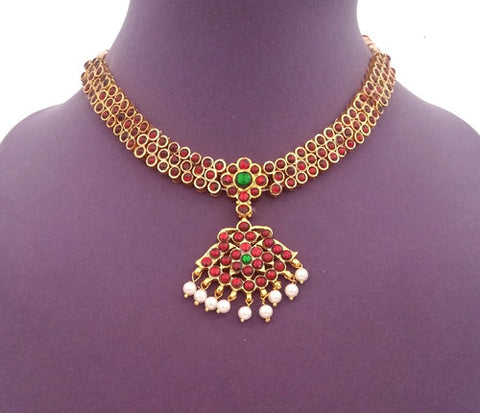 Kuchipudi Bharatanatyam Short Necklace - SN2205