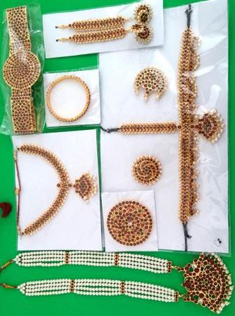 10pc Jewelry Set for Kuchipudi Bhartanatyam KMPSET504
