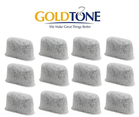 GoldTone 12-Pack Replacement Charcoal Water Filter for Cuisinart Coffee Machi... - Chickadee Solutions - 1
