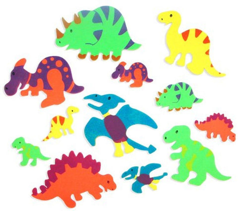 Foam Adhesive Dinosaur Shapes (500 pc) by Fun Express - Chickadee Solutions