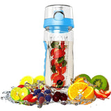 Fruit Infusion Sports Bottle with Flip Top Lid - Large 32oz Blue - Chickadee Solutions - 1